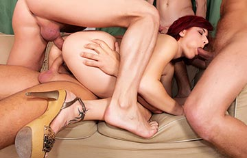 Gangbang action in high def